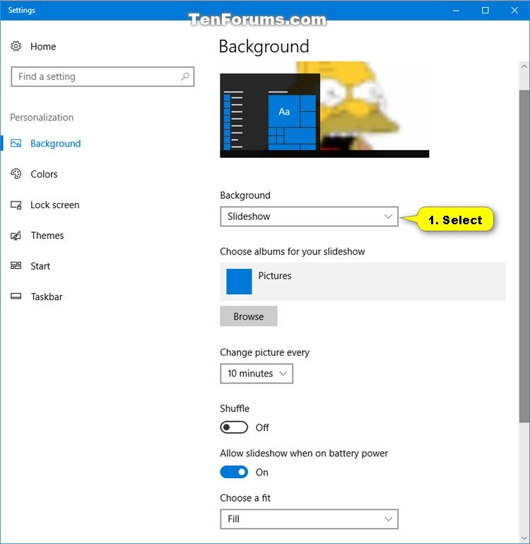 how to change your desktop background on windows 10