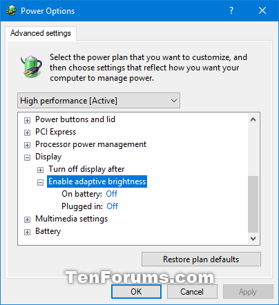 how to turn off auto brightness windows 10 2018