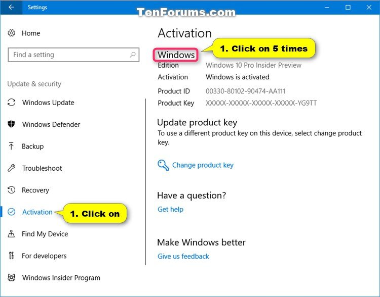 Turn On or Off Retail Demo Experience Mode in Windows 10