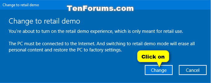 Turn On or Off Retail Demo Experience Mode in Windows 10 | Tutorials