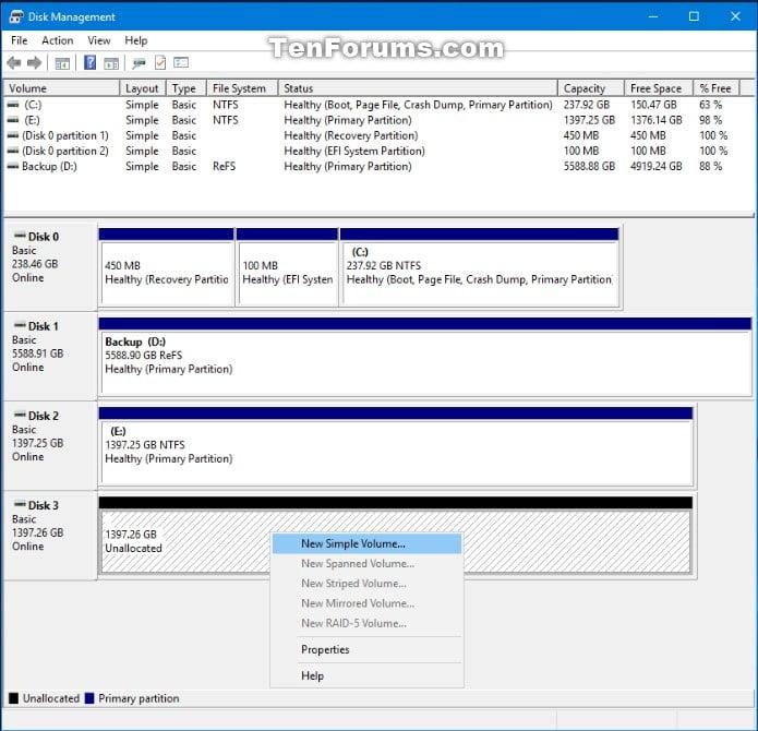 Convert GPT Disk to MBR Disk in Windows 10   Tutorials