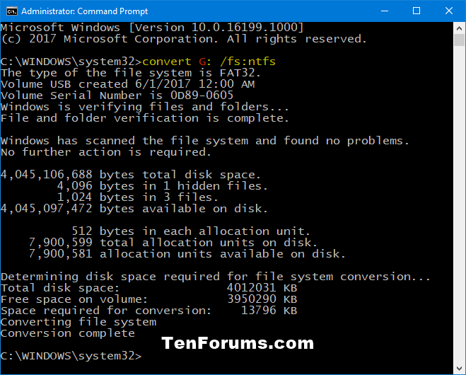 Convert FAT32 to NTFS without Data Loss in Windows-fat32_to_ntfs_command.png
