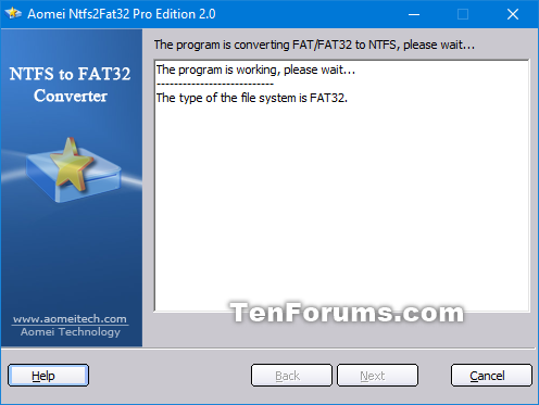 Convert FAT32 to NTFS without Data Loss in Windows-aomei_ntfs2fat32-5.png