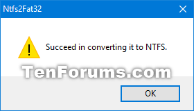convert fat32 to ntfs windows 10 without losing data