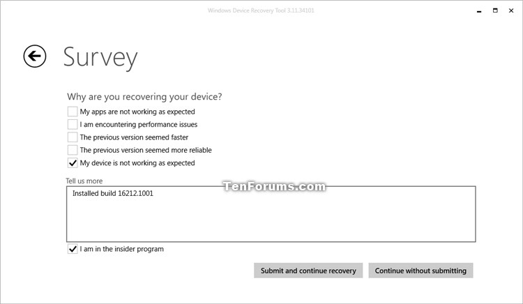 Windows Device Recovery Tool - Recover Windows 10 Mobile