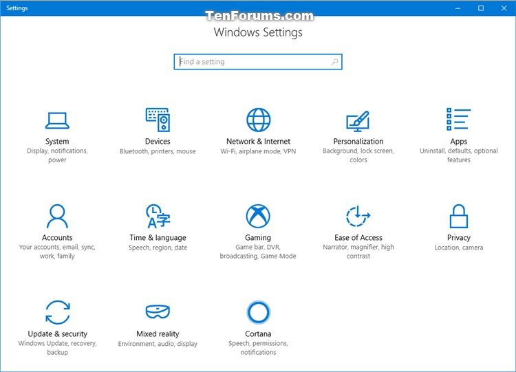 Create Shortcuts to Open Settings Pages in Windows 10-settings.jpg