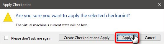 Use Hyper-V virtual machine to get Windows 10 Insider ISO-apply-checkpoint-2.jpg