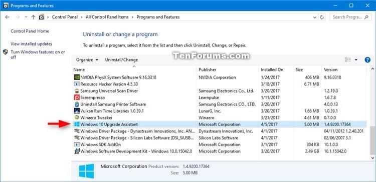 Name:  Uninstall_Windows_10_Update_Assistant-1.jpg Views: 73170 Size:  68.1 KB