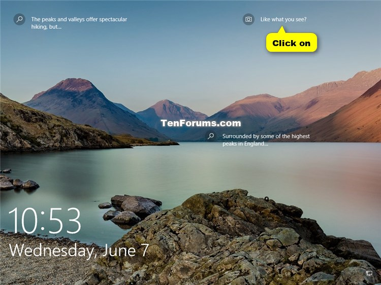Rate Windows Spotlight Background Images On Lock Screen In Windows 10 Tutorials