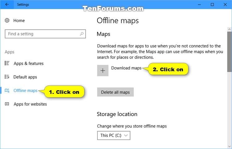 Download Offline Maps in Windows 10 | Tutorials