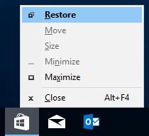 Move Off-Screen Window back On-Screen in Windows 10   Tutorials