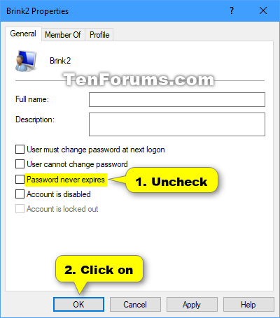 Enable or Disable Password Expiration for Local Accounts in