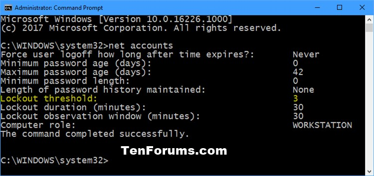 Change Account Lockout Threshold for Local Accounts in Windows 10-net_accounts.jpg