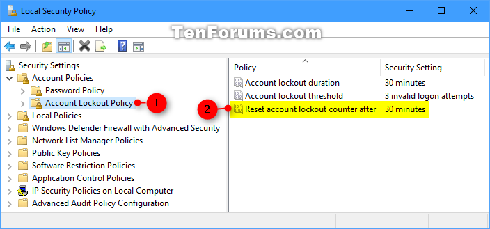 Change Reset Account Lockout Counter for Local Accounts in Windows 10-reset_account_lockout_counter_after_secpol-1.png