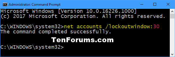 Change Reset Account Lockout Counter for Local Accounts in Windows 10-reset_account_lockout_counter_after-command.png