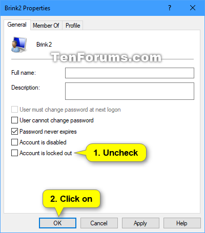 Unlock Local Account in Windows 10 | Tutorials
