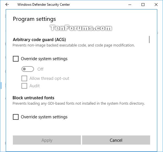 Change Windows Defender Exploit Protection Settings in Windows 10-exploit_protection_add_program_settings-3.png