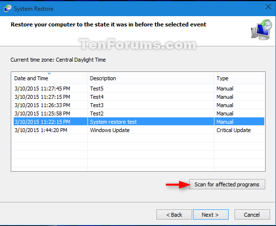 how to delete system restore points windows 10
