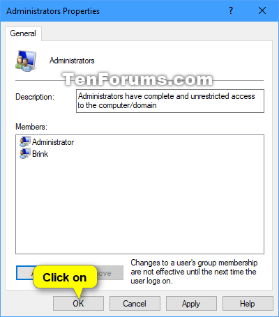 Add or Remove Users from Groups in Windows 10 | Tutorials
