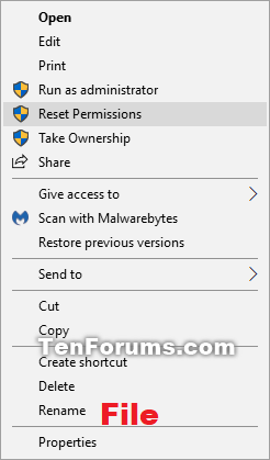 how to change file permissions in windows 10