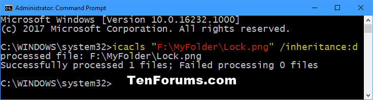 Enable or Disable Inherited Permissions for Objects in