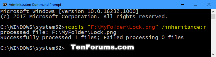 Name:  Disable_inheritance_and_remove_all_inherited_permissions_command.png Views: 32697 Size:  21.8 KB