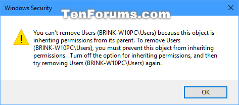 Change Permissions of Objects for Users and Groups in Windows 10-cant_remove.png
