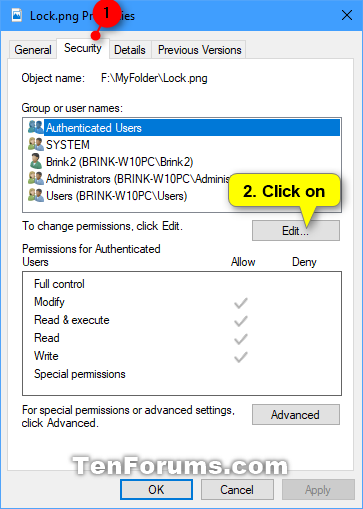 Change Permissions of Objects for Users and Groups in Windows 10-remove_user_or_group_permissions-1.png