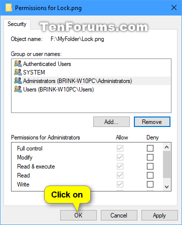 Change Permissions of Objects for Users and Groups in Windows 10-remove_user_or_group_permissions-3.png