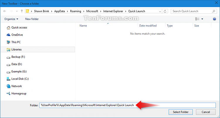 Add or Remove Quick Launch toolbar in Windows 10-quick_launch-2.png