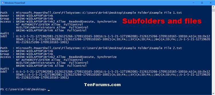 Add List Permissions Context Menu in Windows-list_permissions_of_subfolders_and_files.jpg