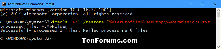 Backup and Restore Permissions of File, Folder, or Drive in Windows-restore_permissions_of_folder_command.png