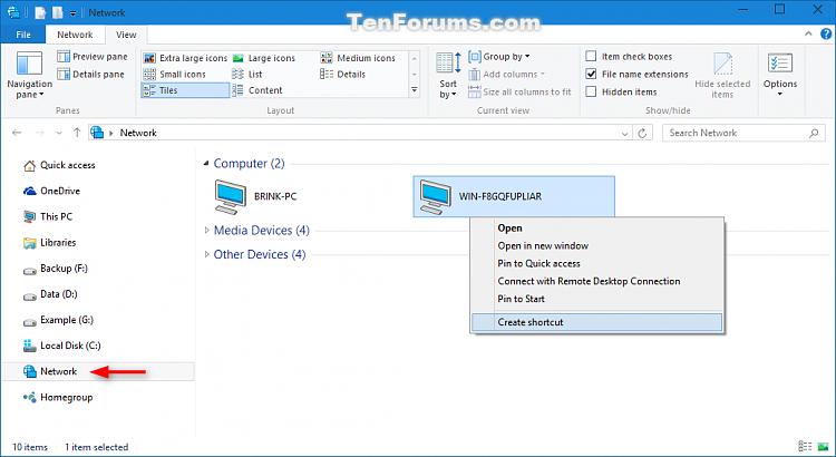 'Pin to taskbar' Folder and Drive in Windows 10-network_create_shortcut.png