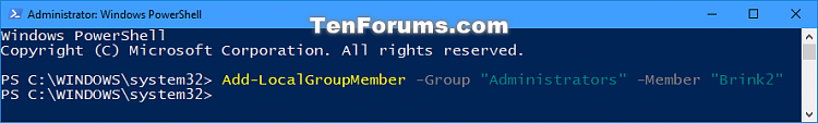 Click image for larger version.  Name:Add_user_to_group_in_PowerShell.png Views:30 Size:19.6 KB ID:144047