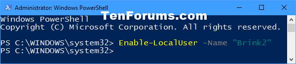 Name:  Enable_account_in_PowerShell.png Views: 28371 Size:  10.8 KB