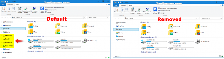 Add or Remove Duplicate Drives in Navigation Pane in Windows 10-drives_in_navigation_pane.png