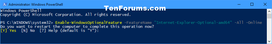 Turn Windows Features On or Off in Windows 10 | Tutorials