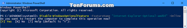 Click image for larger version.  Name:Disable-WindowsOptionalFeature_PowerShell.png Views:368 Size:21.5 KB ID:145548