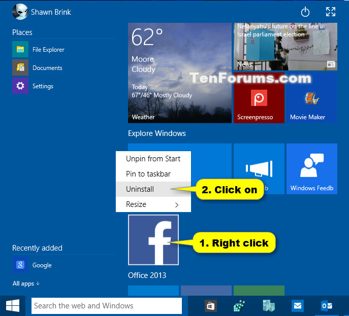 Uninstall Apps in Windows 10 | Tutorials