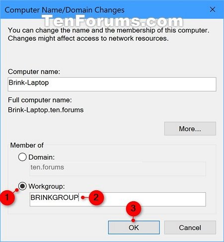 how to create domain in windows 10