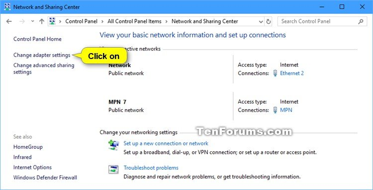 Disconnect VPN in Windows 10   Tutorials