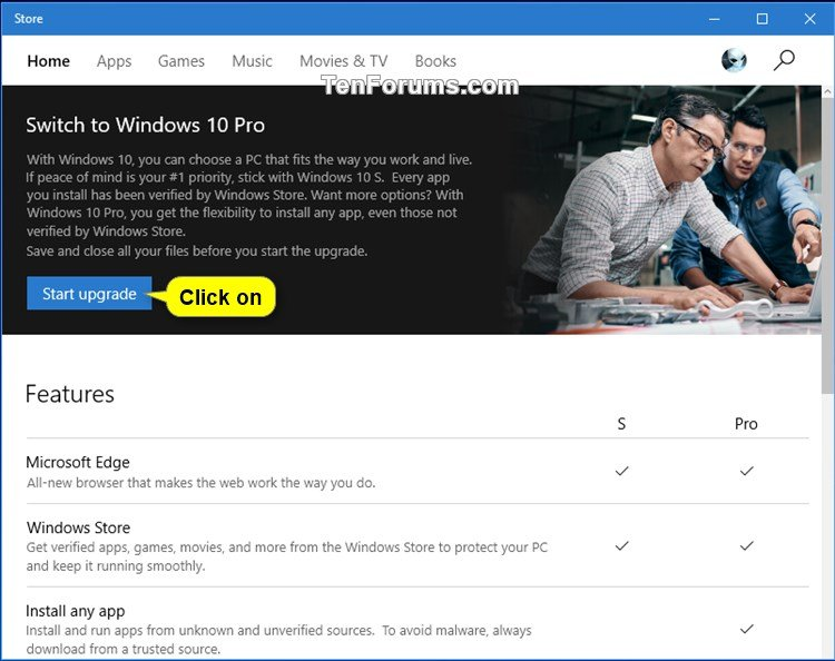 Switch from Windows 10 in S mode to Windows 10 Pro | Tutorials