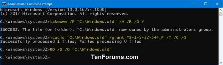 Name:  Delete_Windows.old_folder_command.jpg Views: 34527 Size:  46.8 KB
