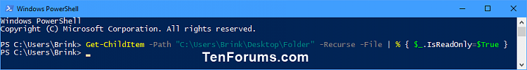 Click image for larger version.  Name:Set_Read-only_subfolders_and_files_PowerShell.png Views:51 Size:11.9 KB ID:149306