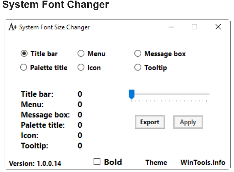 how to change the size of text on windows 10