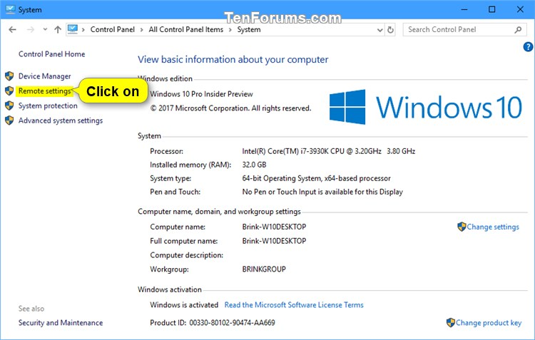 Enable or Disable Remote Desktop Connections to Windows 10 PC-remote_desktop_control_panel-1.jpg