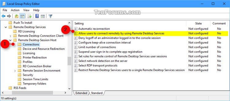 Enable or Disable Remote Desktop Connections to Windows 10 PC-remote_desktop_connections_gpedit-1.jpg