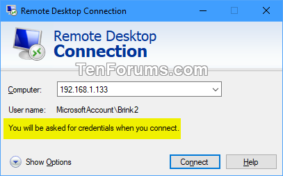 Delete Saved Credentials of Remote Desktop Connection in