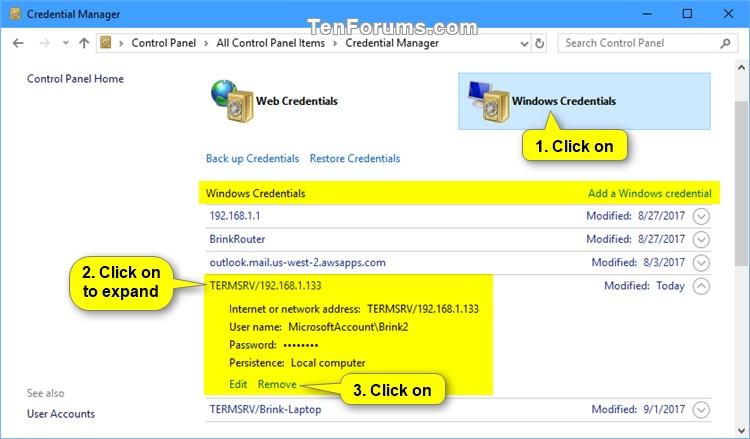 Delete Saved Credentials of Remote Desktop Connection in Windows-delete_rdc_saved_credentials_in_credential_manager-1.jpg