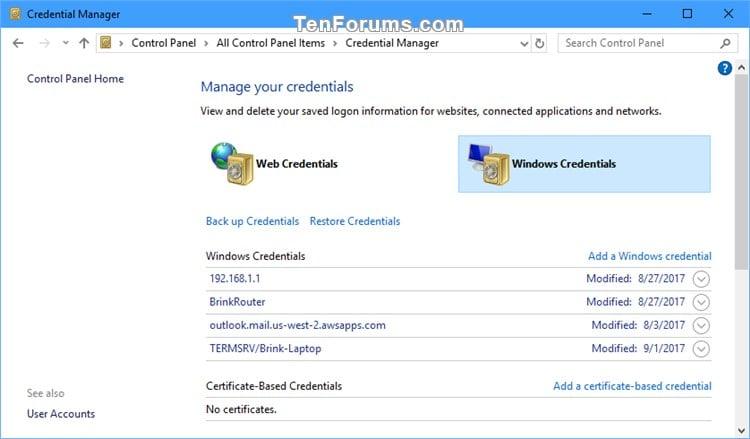 Delete Saved Credentials of Remote Desktop Connection in Windows-delete_rdc_saved_credentials_in_credential_manager-3.jpg